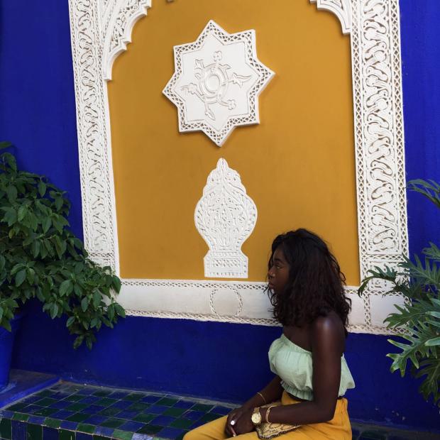 marrakech-morocco-majorelle garden-tambollo-nigerian in morocco- africa